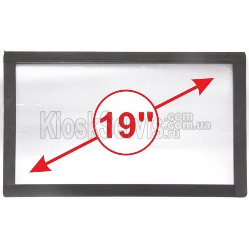 Сенсорная панель (сенсорное стекло) LED «I-Touch» инфракрасная 19 дюймов, 3 мм, 16:9 без рамки, широкоформатная