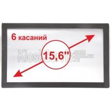 "Сенсорная панель  Led «i-Touch» мультитач, широкоф. 15,6"" / 6 касаний 3 мм без рамки"