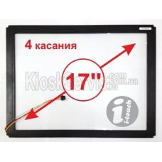 """Сенсорная панель  Led «i-Touch» мультитач, квадратная 17"""" / 4 касания в рамке"""
