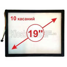 "Сенсорная панель  Led «i-Touch» мультитач, квадратная 19"" / 10 касаний без рамки"
