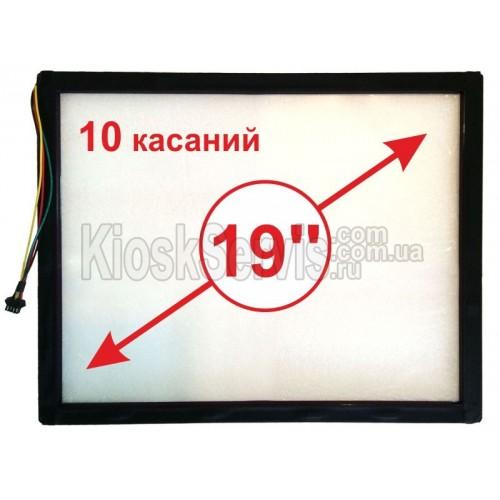 """Сенсорная панель  Led «i-Touch» мультитач, квадратная 19"""" / 10 касаний в рамке"""