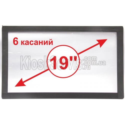 "Сенсорная панель  Led «i-Touch» мультитач, широкоф. 19"" / 6 касаний"