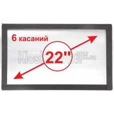 "Сенсорная панель  Led «i-Touch» мультитач, широкоф. 22"" / 6 касаний"