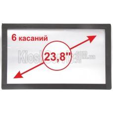 "Сенсорная панель  Led «i-Touch» мультитач, широкоф. 23,8"" / 6 касаний 3 мм без рамки"