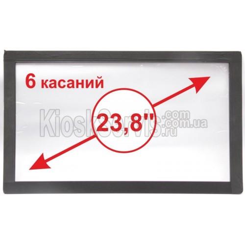 """Сенсорная панель  Led «i-Touch» мультитач, широкоф. 23,8"""" / 6 касаний 3 мм в рамке"""