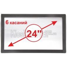 """Сенсорная панель  Led «i-Touch» мультитач, широкоф. 24"""" / 6 касаний 3 мм в рамке"""