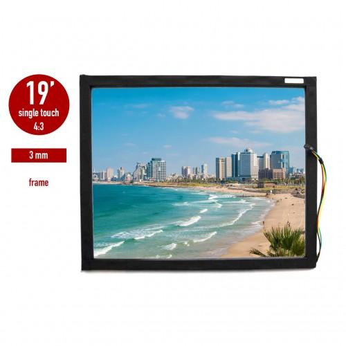 Сенсорная панель (сенсорное стекло) LED «I-Touch» инфракрасная 19 дюймов, 3 мм, 4:3 в рамке