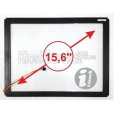"Сенсорное стекло LED «i-Touch» 3 мм 15,6"" 4:3 в рамке"